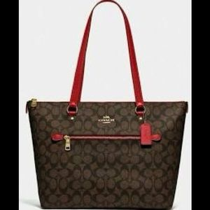Coach Gallery Tote Coated Canvas